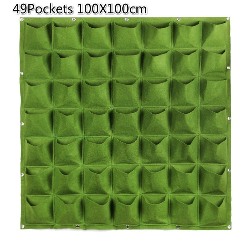 9/18/36/49/64 Pockets Wall Hanging Planting Bags Green Grow Bag Planter Vertical Garden Vegetable Living Garden Bag Home Supplies
