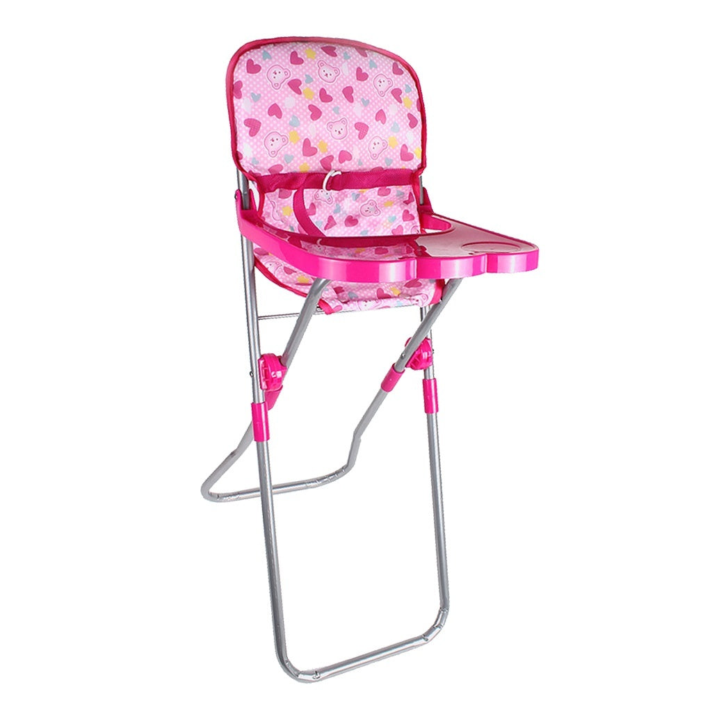 Doll Dining Chair Toddler High Chair Realistic Doll Baby Chair Toy Accs