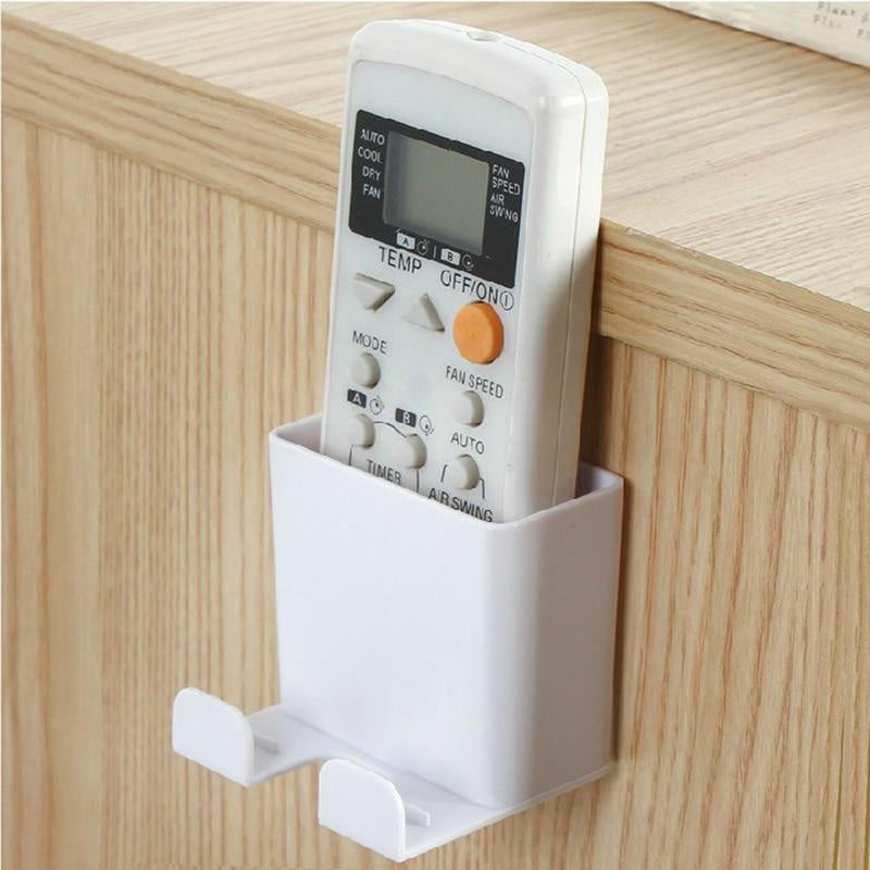 Wall Mounted Organizer Remote Control Air Conditioner Storage Case Mobile Phone Holder Container