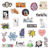 40 / 90PCS Cartoon Laboratory Supplies Stickers Science Doodle Stickers Suitcase Pen Case Stickers Waterproof School Supplies