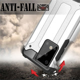 For Samsung Galaxy S20Ultra S20Plus S20 S10Plus S10Lite S10 S10e S9Plus S9 Note10Plus Note10Lite Note10 A40 A50 A70 A20E A51 A71 Luxury Anti-fall Armor Hard PC + Soft Silicone TPU Shockproof Phone Case For iPhone 11ProMax 11Pro 11 XsMax Xs Xr For Huawei P