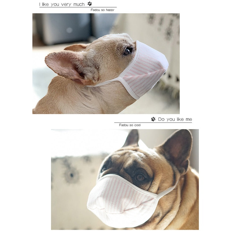 3Pcs pet mask three layers non-woven fabric Teddy large and small dog mouth mask