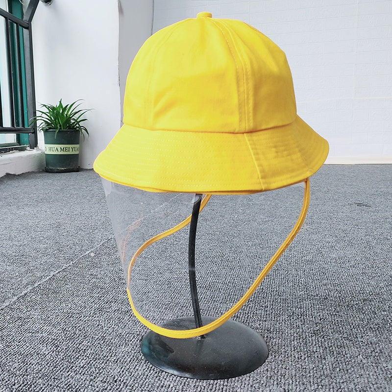 anti spittle face mask hat adult kids full face mask bucket hats wash clean mask hat anti dusk hats