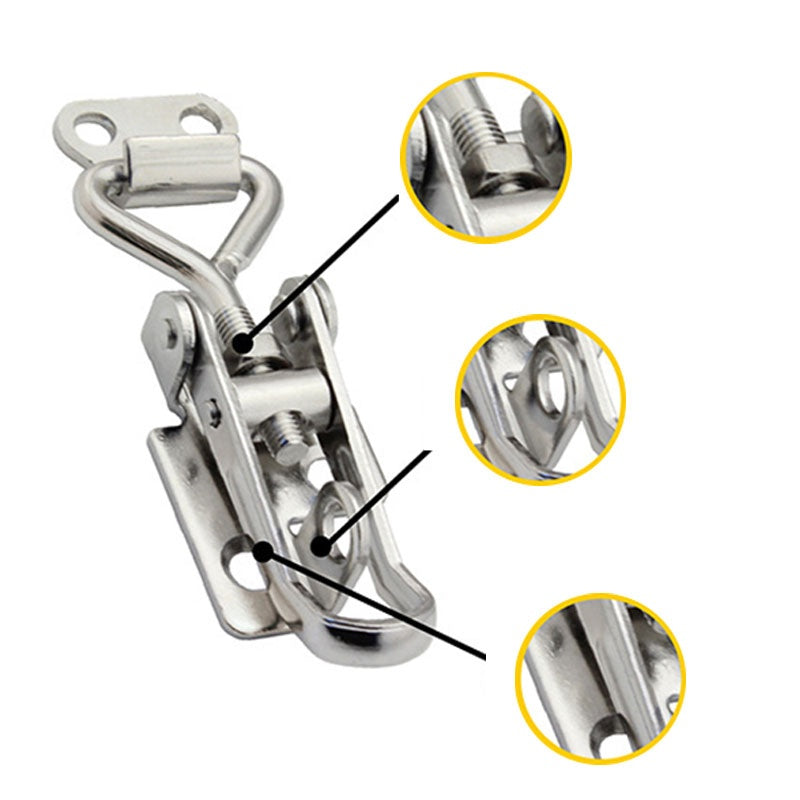 2/4/6/8Pcs Adjustable Cabinet Case Boxes Lever Handle Clamp Hasp Toggle Latch Catches Lock Household Supplies