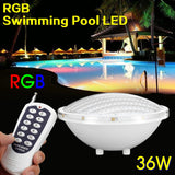 36W LED Underwater Swimming Pool Light Lamp+Romete Control Waterproof for Birthday,Pond,Pool Party