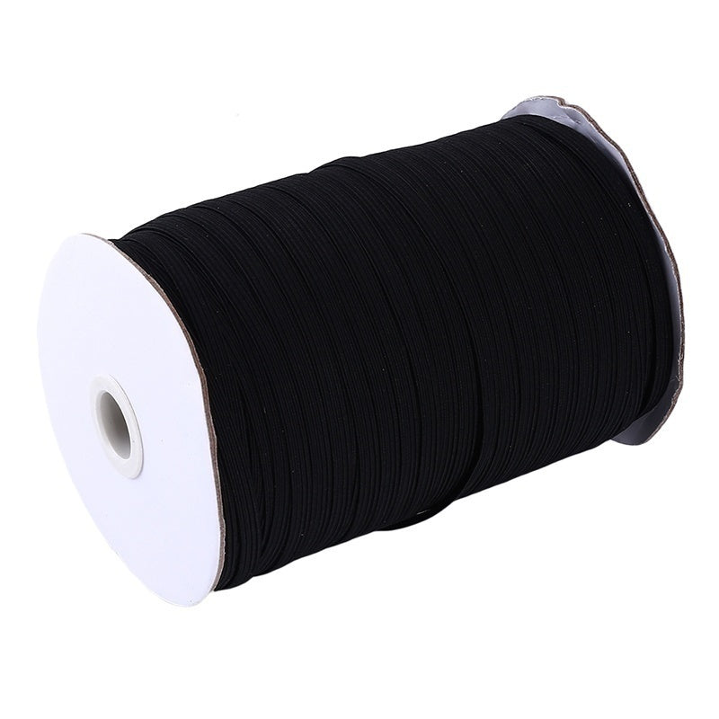 90meters 10 mm elastic Band Spool Sewing Band Flat Elastic Line Mask Elastic Rope DIY handmade Sew materials