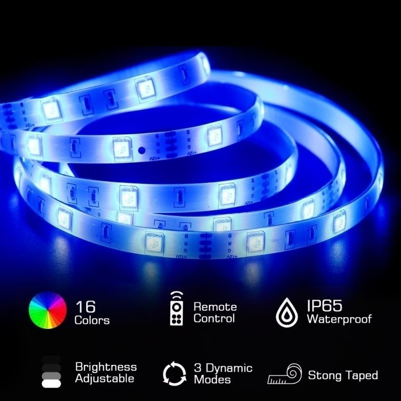 HJFA 5050RGB WiFi LED Strip Lights, 16.4/32.8ft Waterproof 300 LEDs Color Changing Kit Work with Alexa Google Assistant Wireless Phone APP Controlled Rope Light Flexible Tape Lights for Home,Holiday