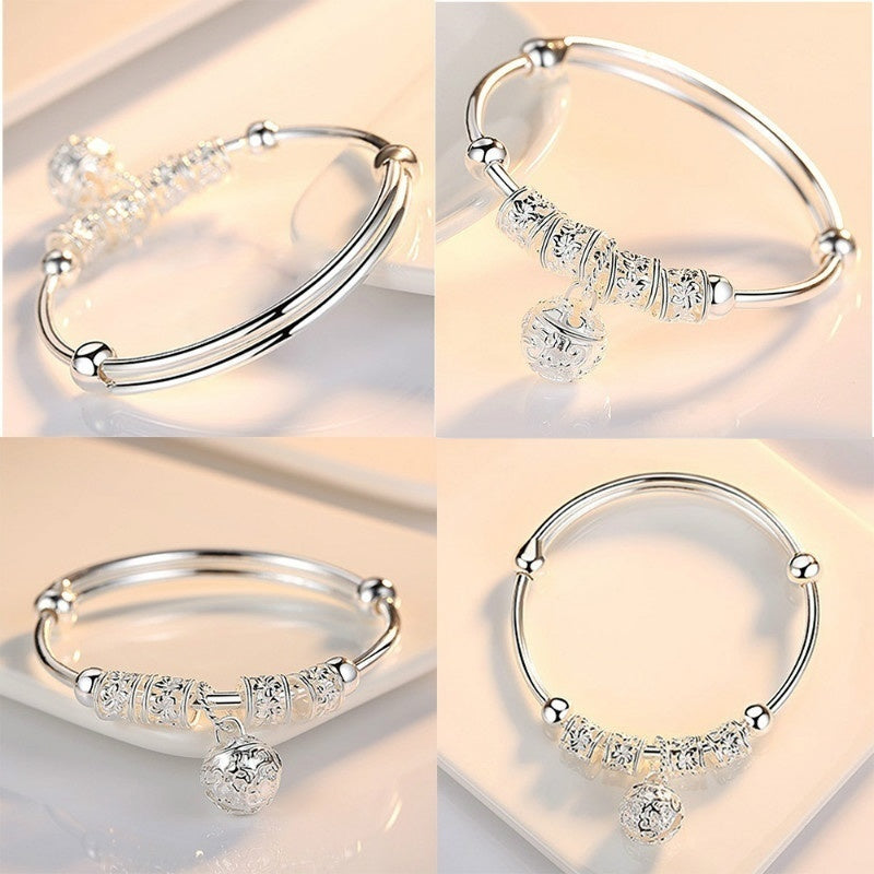 925 Sterling Silver Charm Bracelet Women Silver Jewelry Accessories