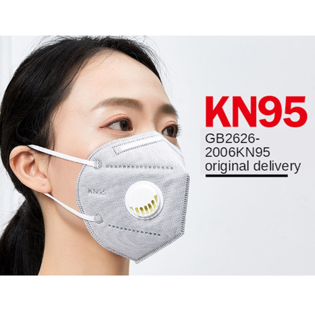 KN95 Face Mask  Dustproof Windproof Respirator Valve PM2.5 Mask