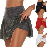 Ladies Fashion Double Layer Shorts Quick-drying Yoga Fitness Shorts Culottes