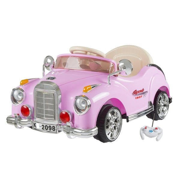 Pink Battery Operated Classic Case 6V with Remote Ride On Toy Rechargable Battery