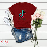 Women's New Fashion TIK TOK Letter Print Graphic Tee Shirts Casual Short Sleeve O-Neck T-shirt Ladies Basic Pullover Top Blouse Plus Size