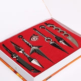 NEW 7Pcs/Set Naruto Hatake Kakashi Deidara Kunai Shuriken Figure Weapons Toys Cosplay Toy 2.5/13cm With Box