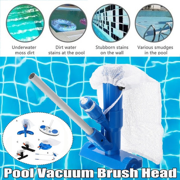6 Styles Pool Cleaner Portable Swimming Pool Pond Fountain Vacuum Brush Cleaner Cleaning Tool EU/US Type