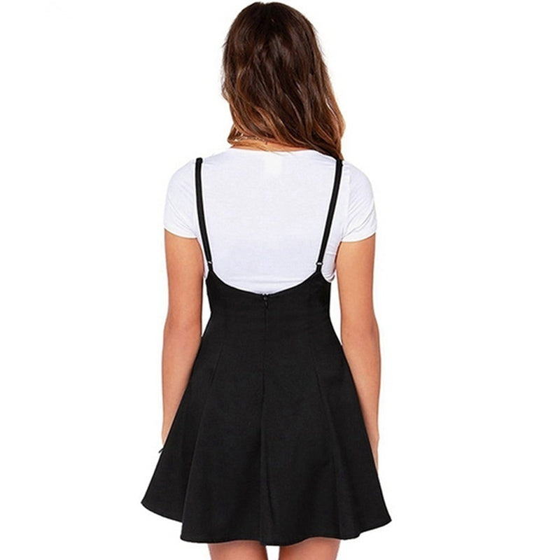 Women Fashion Casual  Adjustable Sexy Suspender Dress