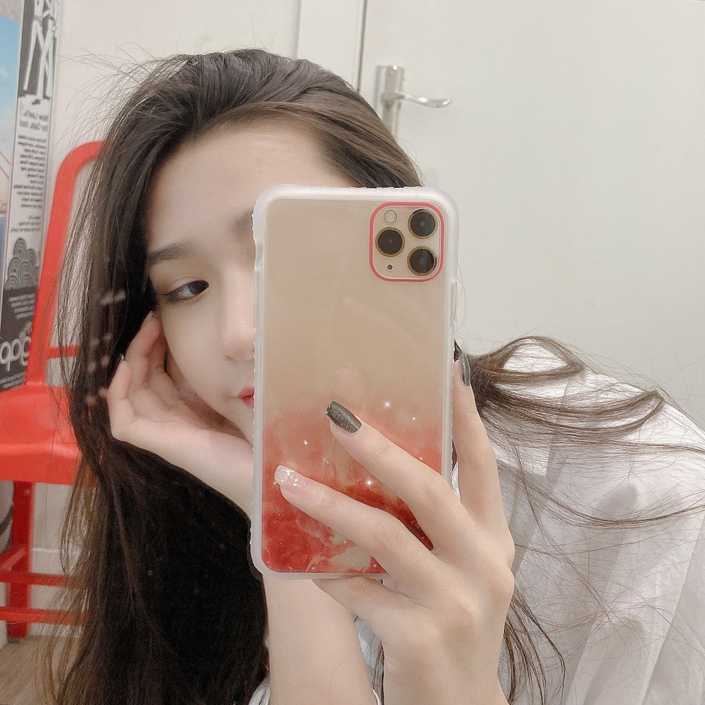 Four sides anti-collision design Bling Glitter Dream quicksand Silicone Case For iPhone 11 11Pro Max XS Max Shining Sequin Soft Clear Back Cover For iPhone 7 8Plus X XS XR