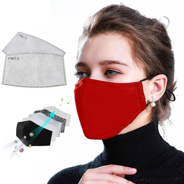 2 in 1 PM2.5 Anti Haze Mask Cotton masks anti-dust mouth mask winter earmuff Activated carbon filter respirator