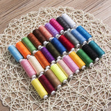 New 30 Spools Mixed Colors 100% Polyester Sewing Quilting Threads All Purpose DIY