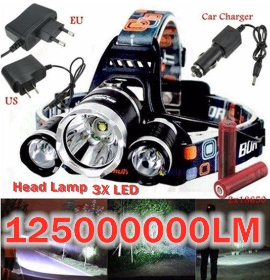Strong Light Charging Super Bright Head-mounted Flashlight Night Fishing Lamp Waterproof LED