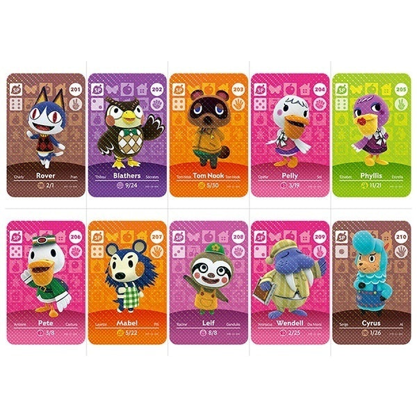 Animal Forest Amiibo Card Can Be Used for NS (201-300 Sheets To Choose From)