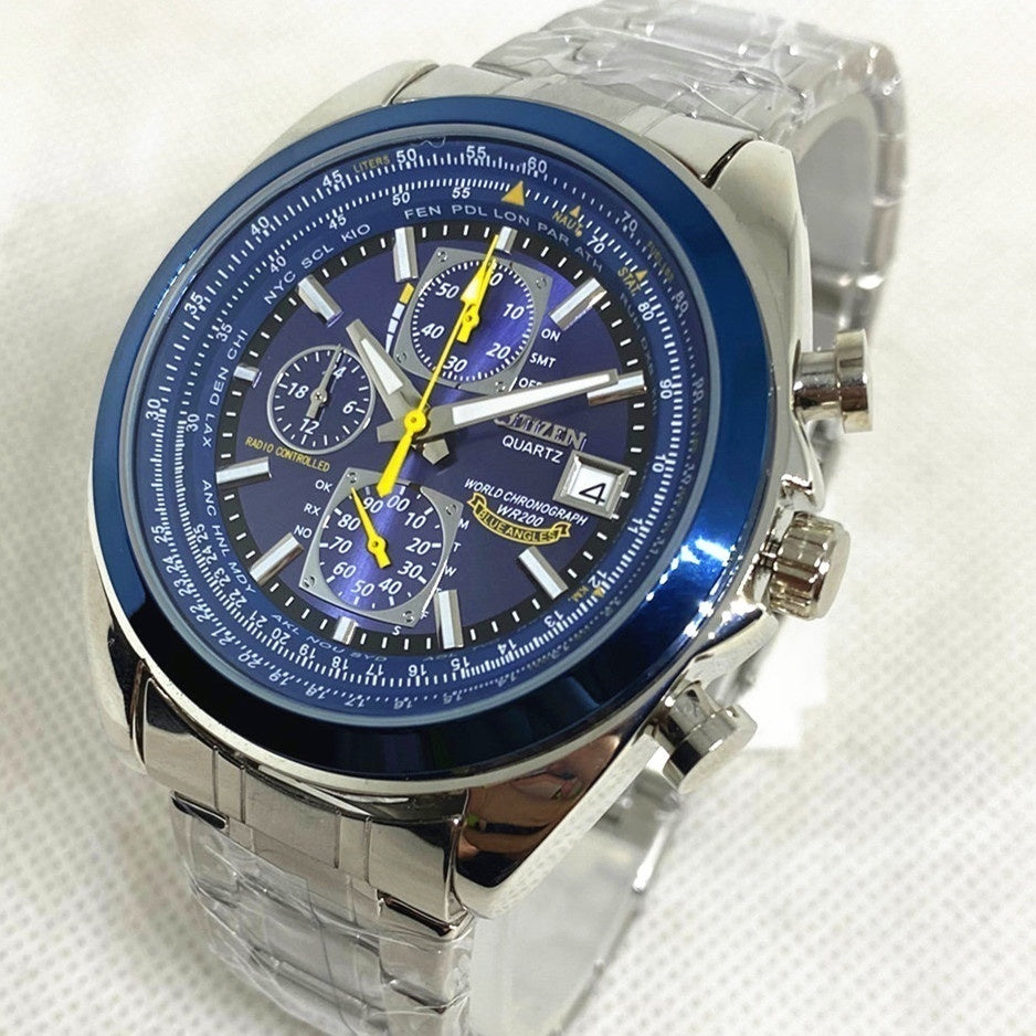 NEW Citizen Automatic Quartz Blue Angels World Chronograph  Men's Watch with Gift Box
