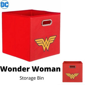 DC Comics Wonder Woman Logo Collapsible Laundry Basket/Store Bin
