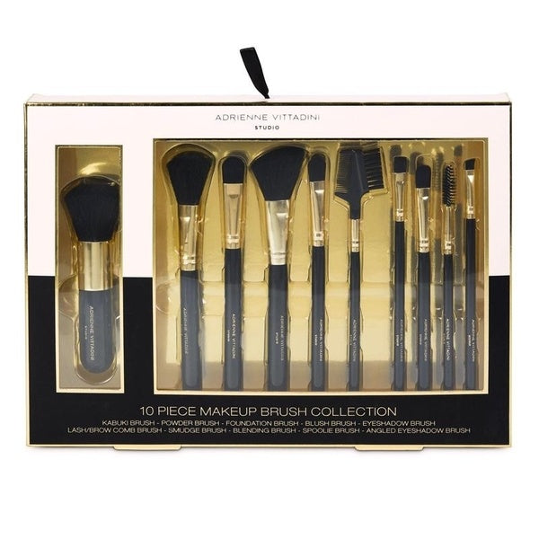 Adrienne Vittadini 10 Piece Makeup Brush Set