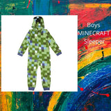 Little & Big Boys Minecraft Hooded Fleece Sleeper