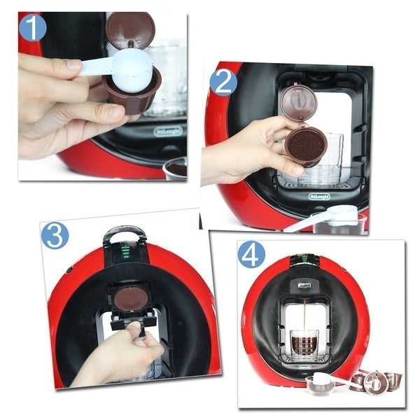 Coffee Machine Reusable Capsule Coffee Cup Filter Coffee Cup Holder Pod Strainer for Dolce Gusto Nescafe