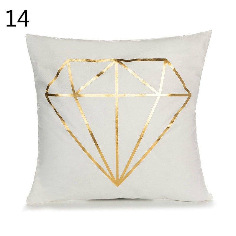 45 * 45cm gold stamping holding pillow case household European classical sofa cushion cover gold stamping waist pillow case