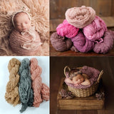 Newborn Photography  Props  Wrap Baby Blanket Soft Stretchable Cotton Swaddling Photography Backdrop Photo Studio