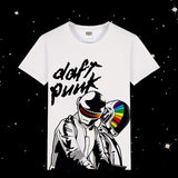 2020 New 3D Print Summer Tee originality daft punk Unisex Short Sleeve Casual T Shirt