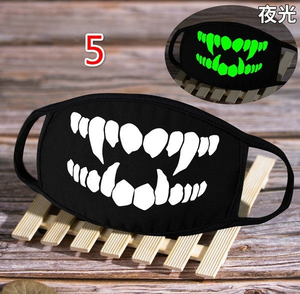 New Unisex Cotton Masks Fashion Luminous Soft Breathable Masks Dustproof Thickened Masks Can Be Washed and Reused Anti Smog Masks