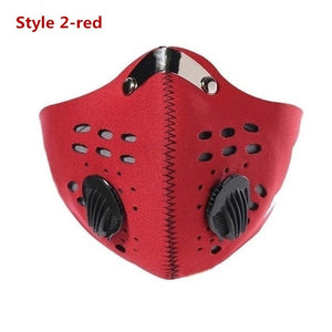 New Bicycle Mask Face Mask Anti-pollution Face Masks Outdoor Sports Dustproof Filter Activated Carbon PM 2.5 Mouth Mask for Bicycle Motorcycle Ski Cycling