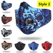 Load image into Gallery viewer, New Bicycle Mask Face Mask Anti-pollution Face Masks Outdoor Sports Dustproof Filter Activated Carbon PM 2.5 Mouth Mask for Bicycle Motorcycle Ski Cycling