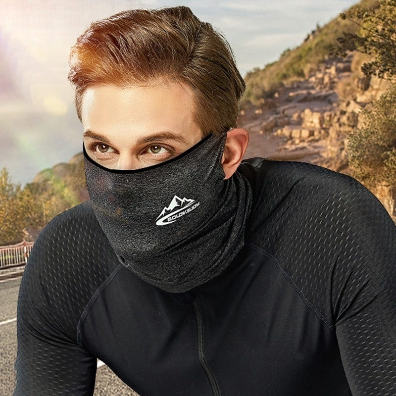 2020 New Cool Ice Silk Cycling Half Face Mask  Bandana Mask Uv Sun Protective Riding Running Scarf Breathable Sports Headwear Bike Headband