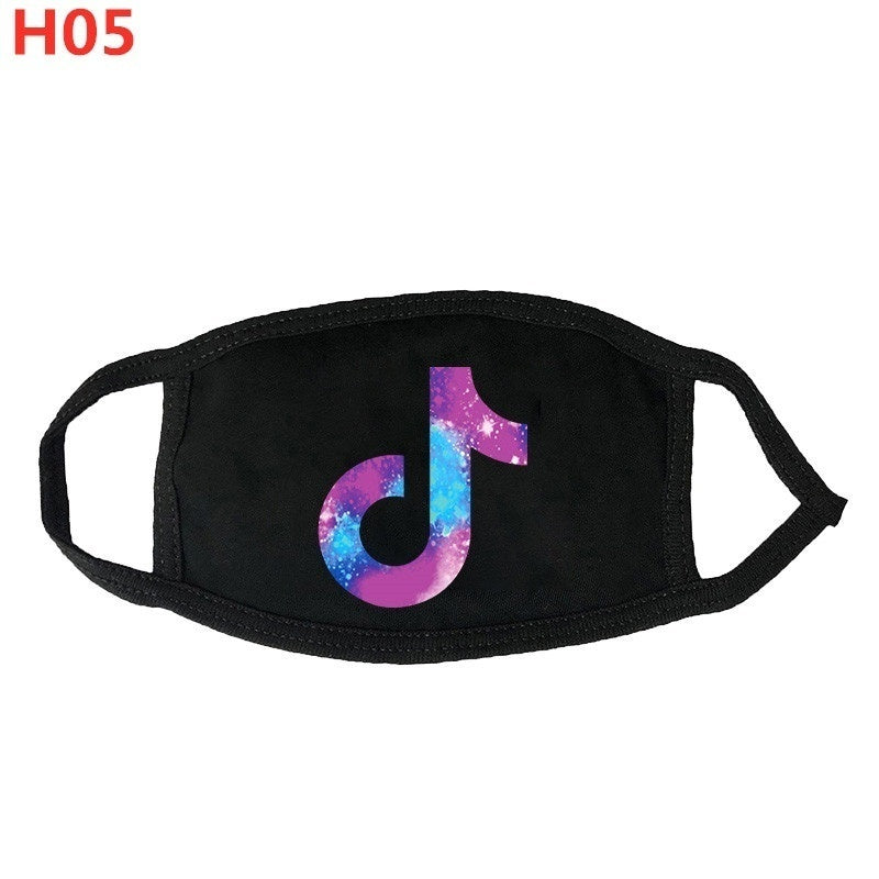 New Graphic Printed Mask Men and Women Breathable Windproof Dustproof Mouth Mask Face Protection