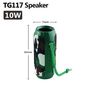 20/40W TG117/TG118 Bluetooth Speaker Outdoor Wireless Column Subwoofer Music Center BoomBox Portable 3D stereo 3600mAh battery FM/TF/AUX