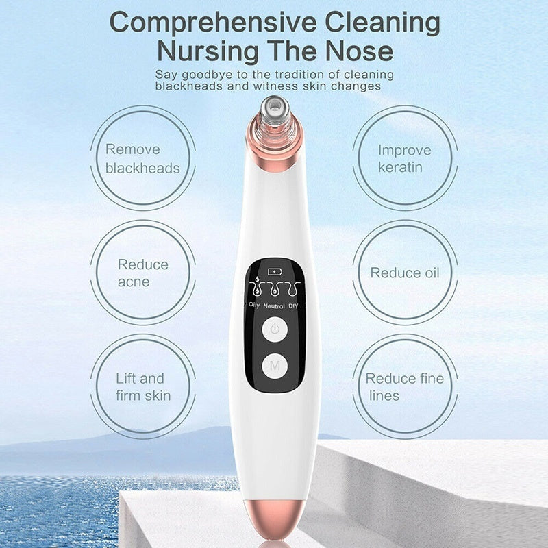 Electric Blackhead Vacuum Acne Cleanser Pore Remover Skin Care Facial Cleanser Blackhead Instrument 2Sizes