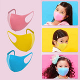 1/2/5Pcs Kids PU Sponge PM2.5 Respirator Mouth Cover Children Breathable Washable Muffle