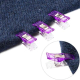 20PCS Plastic Sewing Knitting Craft Quilt Binding Patchwork Clothes Clips Clamps Random Color