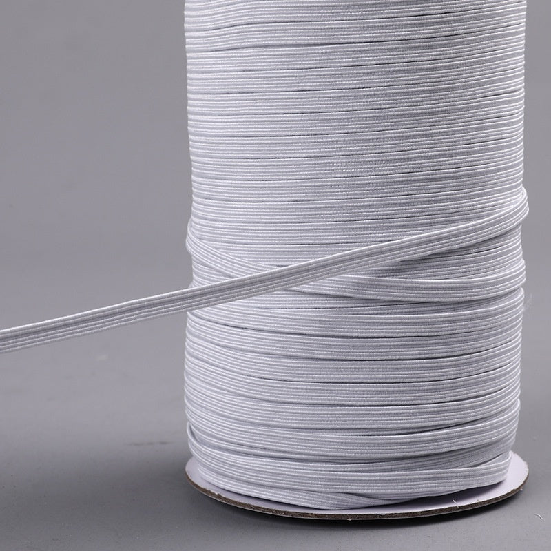 10/20/50/100 Yards Polyester Elastic Band Cord Sewing Fabric DIY Garment Accessories 3/6/8/10mm