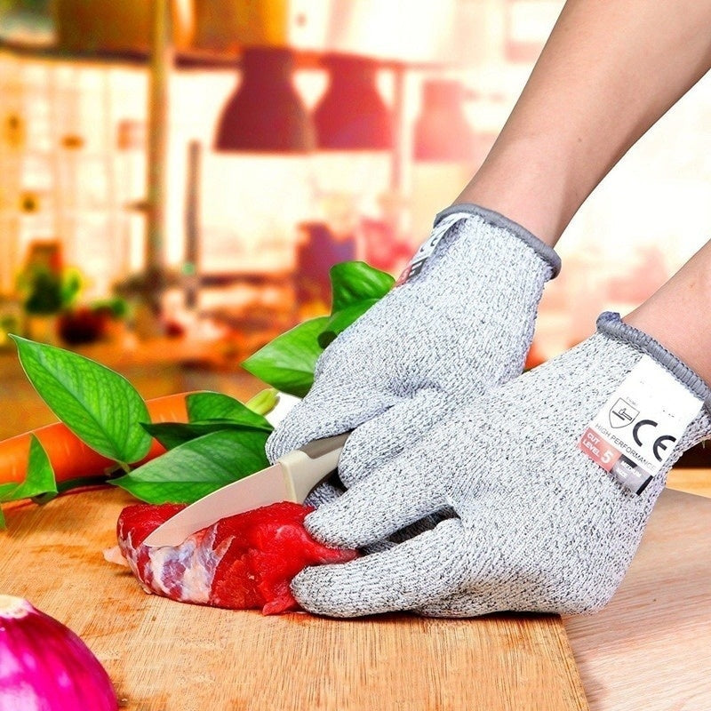 1Pair Anti-cut Gloves Cut Proof Stab Resistant Kitchen Work Safety Gloves