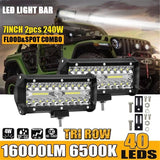 2pcs 24V 7 inch spotlight modified car light Car headlight/ Fog light / Spot Flood Combo Work Lights
