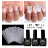 10pcs/20pcs Nail Art Non-woven Silk Fiberglass Gel Tips Extension Fiberglass Manicure