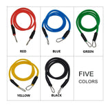 10-50LB Homeworkout Resistance Bands Set Yoga Exercise Fitness Rubber Loop Tube Bands Stretched Elastic Training Pull Rope, Exercise Anywhere(11pcs/set)