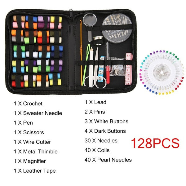 70/90/98/100/128/183/282Pcs Multifunction Sewing Box Kit Set for Quilting Stitching Hand Sewing