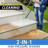 2-in-1 High Pressure Washer 2.0 Jet Nozzle Fan Nozzle Safely Clean High Impact Washing Wand Water Spray Washer for Home Application Wood Brick Concrete Plastic Glass Cleaning