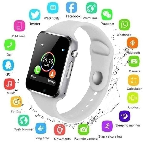 2020 NEW Waterproof Smart Watch Bluetooth GSM Sim Phone Pedometer Sedentary Remind Sleep Monitor Remote Camera For Android/iOS