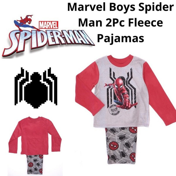 Marvel Little & Big Boys  Spider-Man Far from Home Fleece Pajamas